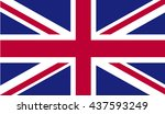 united kingdom flag. great...   Shutterstock .eps vector #437593249