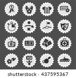 football web icons for user... | Shutterstock .eps vector #437595367