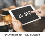 christmas holiday date... | Shutterstock . vector #437600095