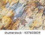 rocks stone and red orange... | Shutterstock . vector #437603839
