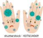 dirty hands  negative face | Shutterstock . vector #437614069
