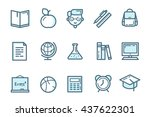 school icons. educations icon... | Shutterstock .eps vector #437622301