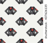 seamless flat pattern with... | Shutterstock .eps vector #437626135