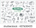 pet shop  dog stuff. isolated... | Shutterstock .eps vector #437630455