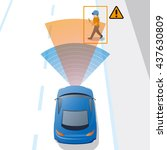 advanced driving assistant... | Shutterstock .eps vector #437630809