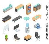 office furniture isometric... | Shutterstock .eps vector #437632984