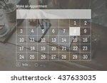calendar agenda appointment... | Shutterstock . vector #437633035