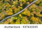 road in the autumn forest... | Shutterstock . vector #437633335