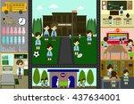school info graphics element... | Shutterstock .eps vector #437634001