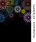 fireworks on black background | Shutterstock .eps vector #437636491