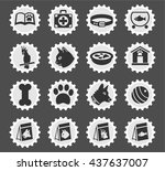 goods for pets web icons for... | Shutterstock .eps vector #437637007