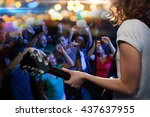 holidays  music  nightlife and... | Shutterstock . vector #437637955
