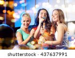 bachelorette party  karaoke ... | Shutterstock . vector #437637991
