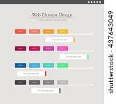 web element design | Shutterstock .eps vector #437643049