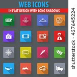 travel web icons in flat design ...   Shutterstock .eps vector #437645224