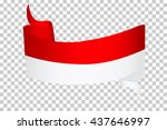 ribbon  indonesia flag   | Shutterstock .eps vector #437646997