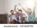 friendship  sports and... | Shutterstock . vector #437648704