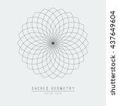 seed of life   tube torus.... | Shutterstock .eps vector #437649604