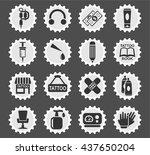 tattoo salon web icons for user ... | Shutterstock .eps vector #437650204