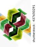 glass glossy arrow motion... | Shutterstock .eps vector #437650291