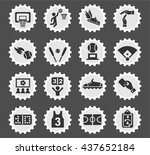 sport web icons for user... | Shutterstock .eps vector #437652184