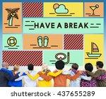 break cessation leisure pause... | Shutterstock . vector #437655289