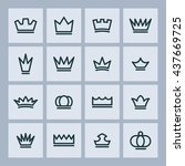 kingdom pictograph | Shutterstock .eps vector #437669725