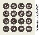 crown vector graphic | Shutterstock .eps vector #437669839