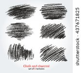 grunge strokes by chalk and...   Shutterstock .eps vector #437671825