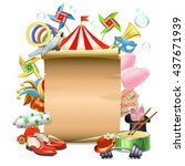vector circus concept with... | Shutterstock .eps vector #437671939