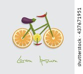 fruit and vegetable bike. there ... | Shutterstock .eps vector #437671951