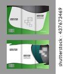 tri fold business brochure... | Shutterstock .eps vector #437673469