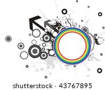 abstract grungy pattern... | Shutterstock .eps vector #43767895