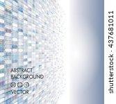 pixels perspective abstract... | Shutterstock .eps vector #437681011
