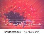 inspirational life message on a ... | Shutterstock . vector #437689144