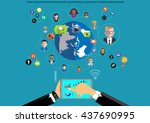 vector businessman... | Shutterstock .eps vector #437690995