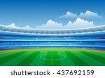 soccer stadium | Shutterstock .eps vector #437692159