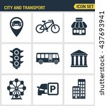 icons set premium quality of... | Shutterstock .eps vector #437693941