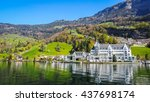 lucern lake view. | Shutterstock . vector #437698174