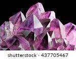 crystal stone macro mineral ... | Shutterstock . vector #437705467