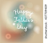 fathers day design for card and ... | Shutterstock .eps vector #437709409