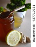 Small photo of Honey accompanied by Ginger, lemon and tea