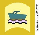 flat vector icon design... | Shutterstock .eps vector #437710729