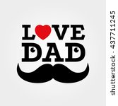Love Dad Father's Day Vector...