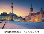 warsaw. image of old town... | Shutterstock . vector #437712775