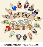 holiday festival journey... | Shutterstock . vector #437713825
