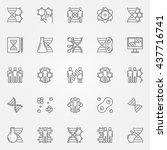 human cloning icons set. vector ... | Shutterstock .eps vector #437716741