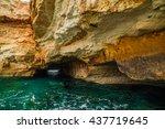rocks on the sea   Shutterstock . vector #437719645