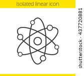 atom structure linear icon.... | Shutterstock .eps vector #437720881