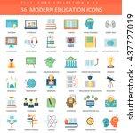 vector modern online education... | Shutterstock .eps vector #437727019